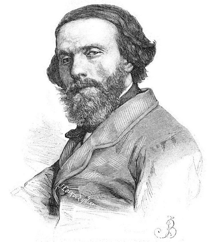 Józef Łoskoczyński - Cyprian Norwid (grayscale)