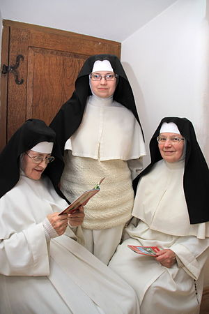 Premonstratensians - Norbertine canonesses in Imbramowice, Poland.