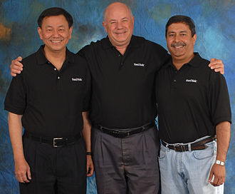 SanDisk - SanDisk founders: Jack Yuan, Eli Harari, and Sanjay Mehrotra (2010)