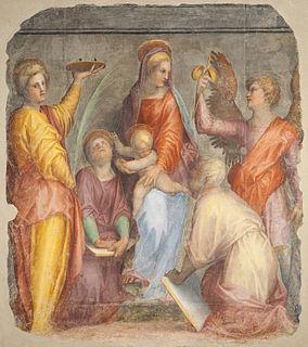 <i>San Ruffillo Madonna</i> Fresco fragment by Pontormo