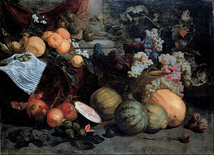 Jan Roos (painter) - Still life with fruit and vegetables