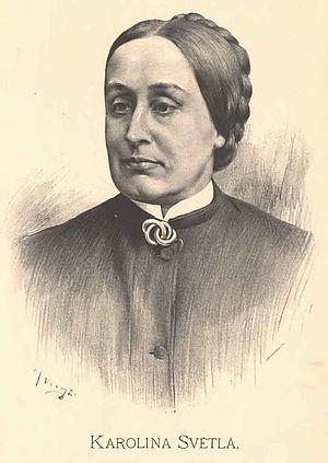 Karolina Světlá - Portrait of Karolina Světlá by Jan Vilímek