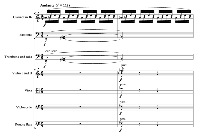 Janacek Sinfonietta 2nd movement opening two measures.png