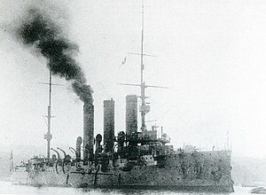 Japanese cruiser Tsugaru - Image: Japanese cruiser Tsugaru in 1912