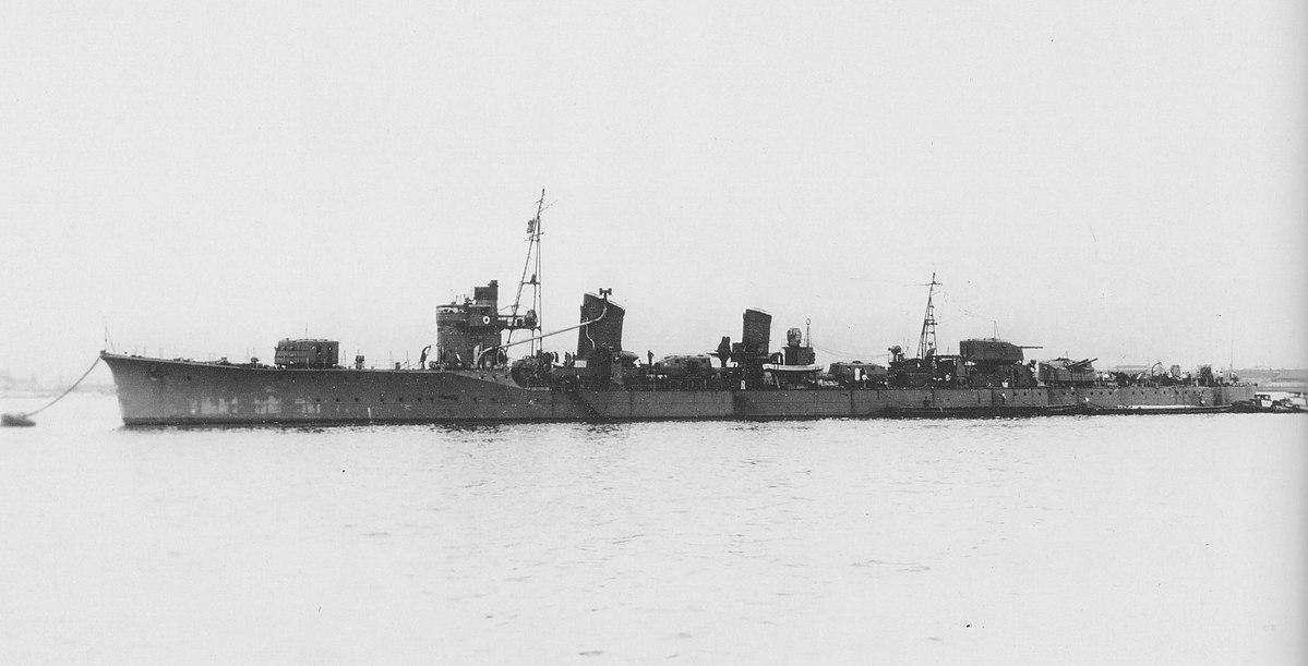 Japanese destroyer Tanikaze at anchor in April 1941.jpg