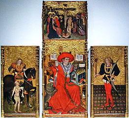 Sant Jeroni, Sant Martí de Tours, Sant Sebastià i Calvari