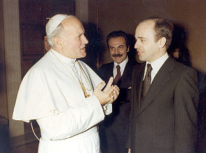 Hans Köchler - Hans Köchler with Pope John Paul II in the Vatican, February 1979