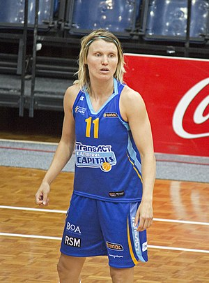Jessica Bibby - Bibby during a game between the Capitals and Logan Thunder at AIS Arena