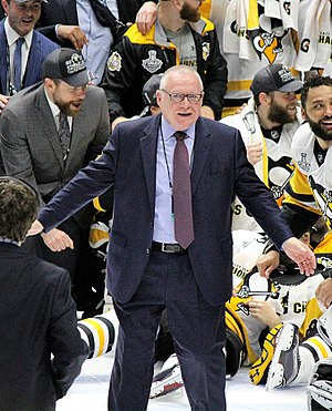 Jim Rutherford - Rutherford following his second Stanley Cup win as Penguins GM.