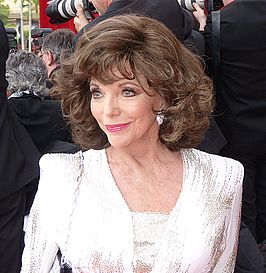 Joan Collins met gala