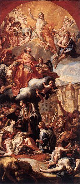 Johann Michael Rottmayr - Apotheosis of St Charles Borromeo - WGA20155