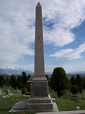 John Taylor (Mormon) - Image: John Taylor Grave North