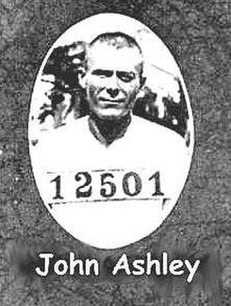 John Ashley (bandit) - Police mugshot of John Ashley, c. 1914, from the Florida State Archives.
