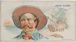 John Evans, Careening, from the Pirates of the Spanish Main series (N19) for Allen & Ginter Cigarettes MET DP835003.jpg