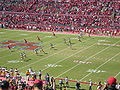 John O'Quinn's initials on field at Houston Cougars football game.jpg