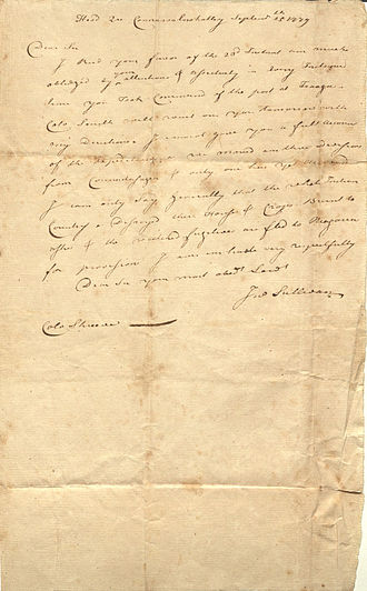 Sullivan Expedition - Letter from John Sullivan, 1779