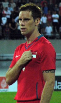 John Wilkinson during a Singapore vs Lebanon match - 20080326.jpg