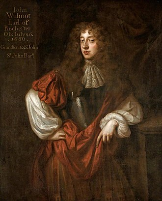 John Wilmot, 2nd Earl of Rochester - Portrait by Peter Lely, 1677