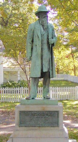 John H. Stevens - Statue of John H. Stevens by Johannes Gelert in Minnehaha Park