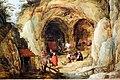 Joos de momper il giovane, paesaggio montuoso con grotte abitate, 1610, 02.jpg