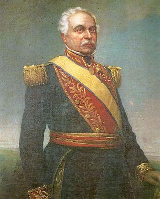 José Antonio Páez - Portrait by Martín Tovar y Tovar