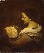 Juan Bautista Martínez del Mazo - Woman with a Sleeping Child - WGA14708.jpg