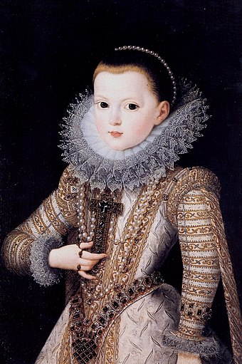 Anne at the age of six, 1607. Juan Pantoja de la Cruz 018.jpg