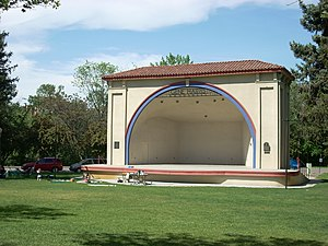 Shell (theater) - The Gene Harris bandshell at Julia Davis Park in Boise, Idaho, a municipal example.