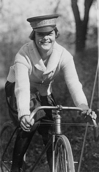 Bicycle messenger - Bicycle messenger at the headquarters of the National Woman's Party, 1922