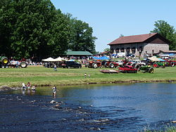 Fourth of July, with the Jump River town hall at back right.