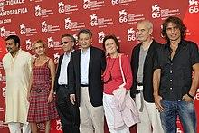 Ligabue con la giuria del 66º Festival del Cinema di Venezia