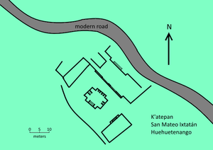 K'atepan - Plan of the site core