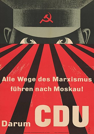Anti-communism - Anti-communist poster in West Germany in 1953