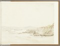 KITLV - 36C45 - Salm, Abraham - Jetty in a bay, probably near Singapore - Water colour - Circa 1870.tif