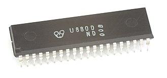 U880 - An early U880D microprocessor, manufactured in December 1981
