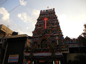 Kalikambal Temple - The main Gopuram (tower) of Kālikāmbāl Temple
