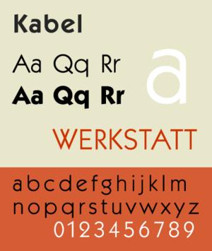 Kabel (typeface) - ITC Kabel