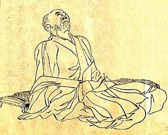 Kamo no Chōmei - Kamo no Chōmei, by Kikuchi Yōsai