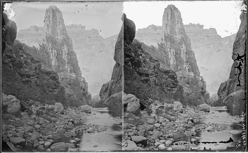 File:Kanab Canyon. The Pinnacle, looking down the canyon, similar to 606, but a clearer photo. Old nos. - NARA - 517910.tif