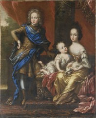 Karl XII, 1682-1718, King of Sweden, his Sisters Hedvig Sofia, 1681-1708, Princess of Sweden, Duchess of Holstein-Gottorp and Ulrika Eleonora the Younger, 1688-1741, Queen of Sweden