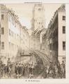 Karl XIV Johans likprocession på Storkyrkobrinken i Stockholm, 1844 - Livrustkammaren - 104963.tif