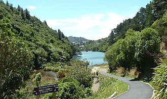 Zealandia (wildlife sanctuary) - Lower Karori Reservoir looking north-east
