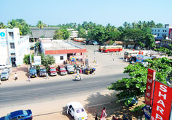A view of Karunagappally Bus Stand