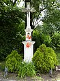 Karviná, Fryštát, kříž v sadu Boženy Němcové.JPG