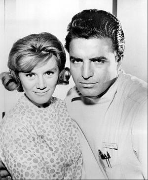 Ben Casey - Vince Edwards as Ben Casey and guest star Kathleen Nolan, 1964