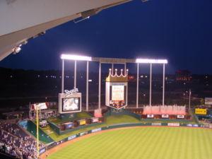 Sports in Kansas City - Kansas City Royals night game.