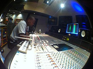 Keith Harris (record producer) - Harris in the studio