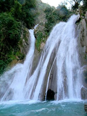 Mussoorie - Kempty Water Fall, Mussoorie (in winter)