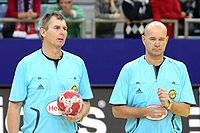 Kenneth Abrahamsen and Arne M. Kristiansen, Handball-Referee.jpg