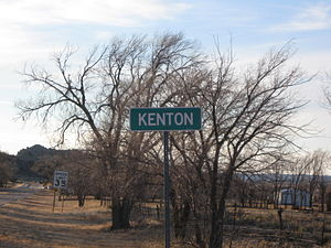 Kenton, Oklahoma - Image: Kenton Oklahoma Road Sign November 2011